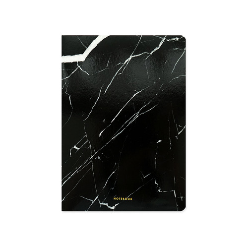 STONE NOTEBOOK BLACK CRACK